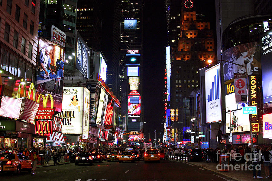 Times Square Colors Photograph - Times Square Colors by John Rizzuto