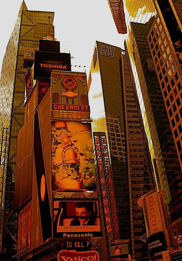 Orange Photograph - Times Square In Manhattan by Moniques Fine Art
