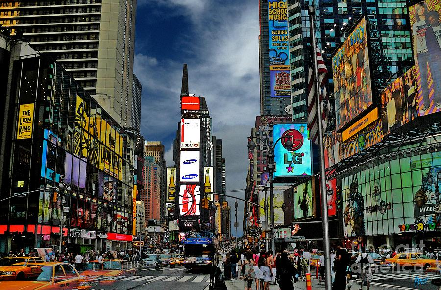 New York City Photograph - Times Square by Jeff Breiman