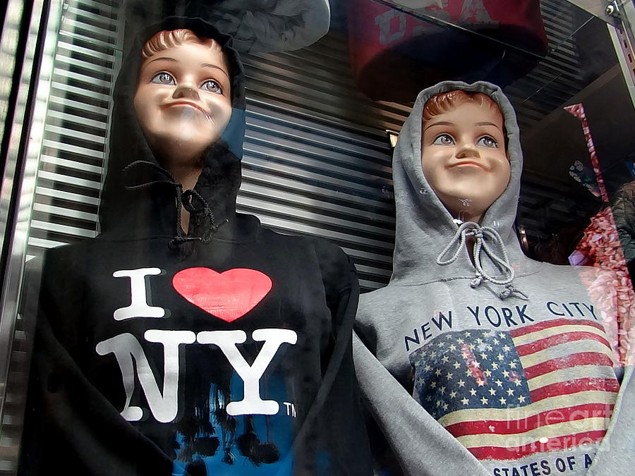 Mannequins Photograph - Times Square Kids by Ed Weidman