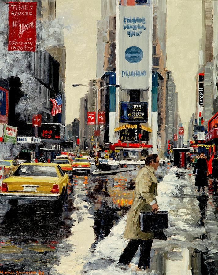 New York Painting - Times Square 95 by Michael Swanson