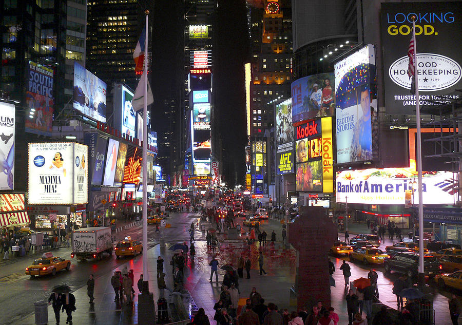 Times Square Photograph - Times Square by Mike McGlothlen