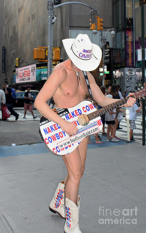 Telfer Photograph - Times Square Naked Cowboy by John Telfer