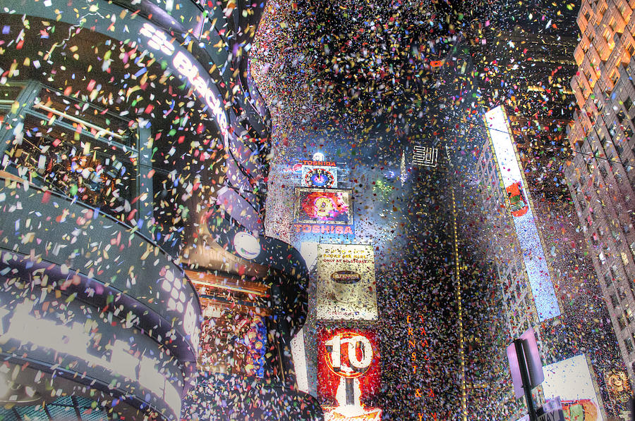 New Years Photograph - Times Square - New Years  by David Yack