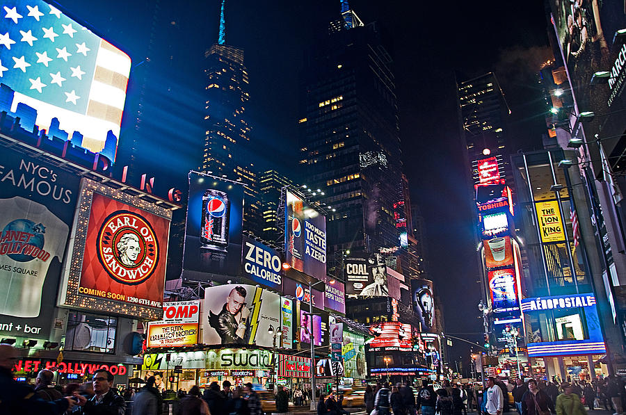 Times Square New York City By Night 3 Photograph by Gabriele ...