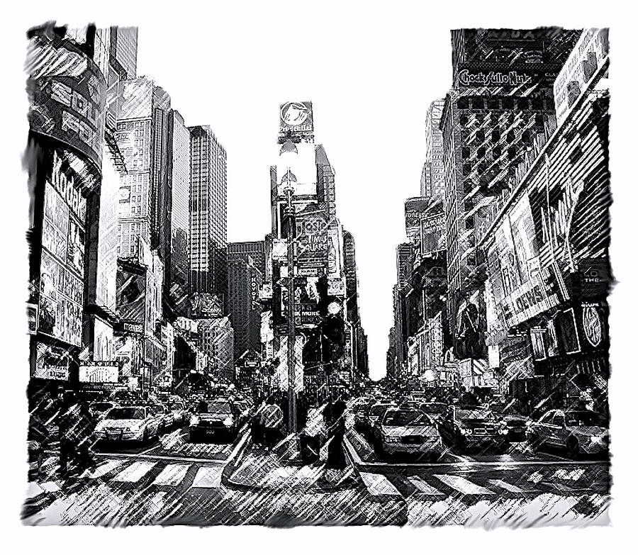 New York City Painting - Times Square   New York City by Iconic Images Art Gallery David Pucciarelli