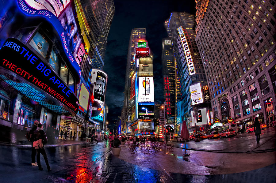 Times Square Photograph - Times Square New York City The City That Never Sleeps by Susan Candelario