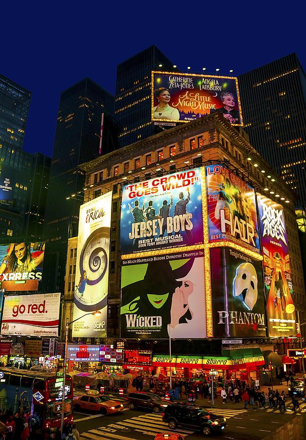 America Photograph - Times Square by Svetlana Sewell