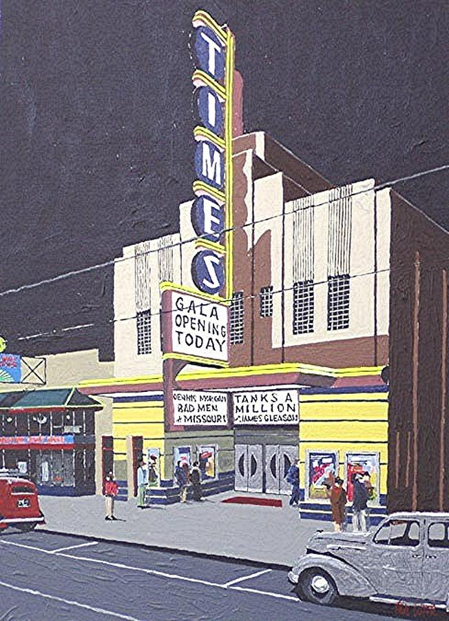 Sacramento Painting - Times Theatre by Paul Guyer