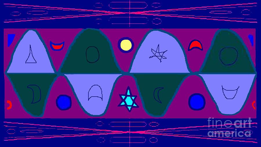 Timewave Digital Art by Meenal C