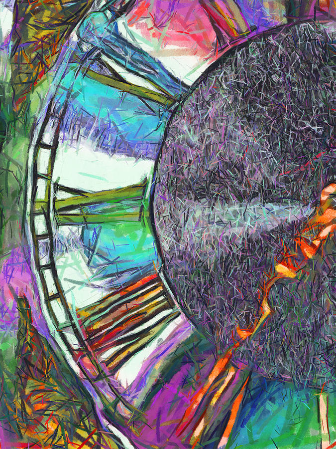 Abstract Digital Art - Timing Is Everything by Wendy J St Christopher