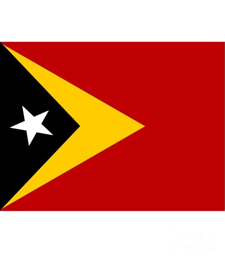 Timor-leste Digital Art - Timor-leste Flag by Frederick Holiday