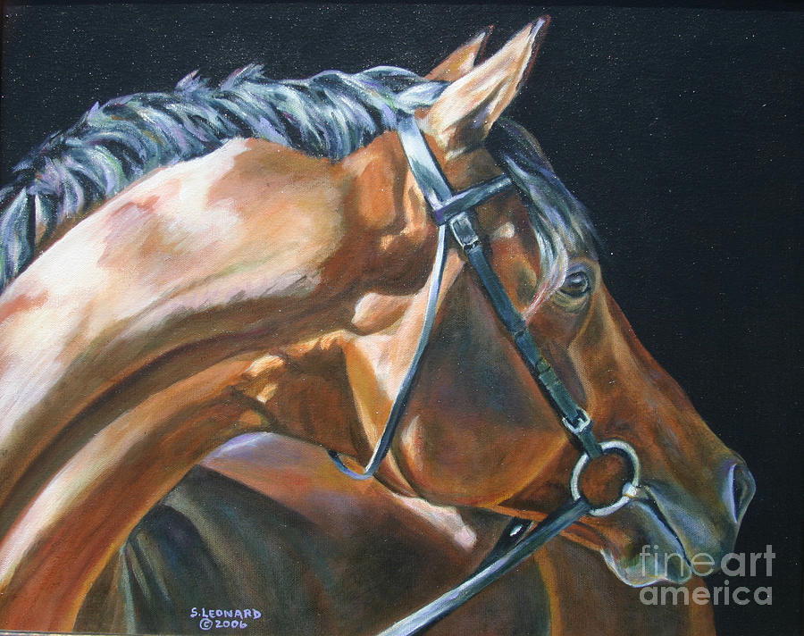 Horse Painting - Timotheus by Suzanne Leonard