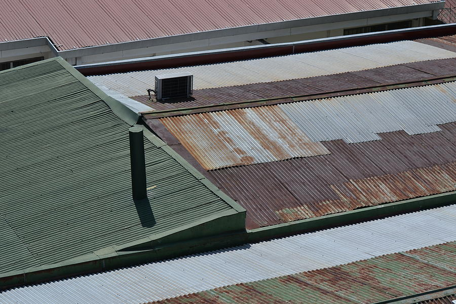 Roof Photograph - Tin Rooftops Of San Jose by Bill Mock