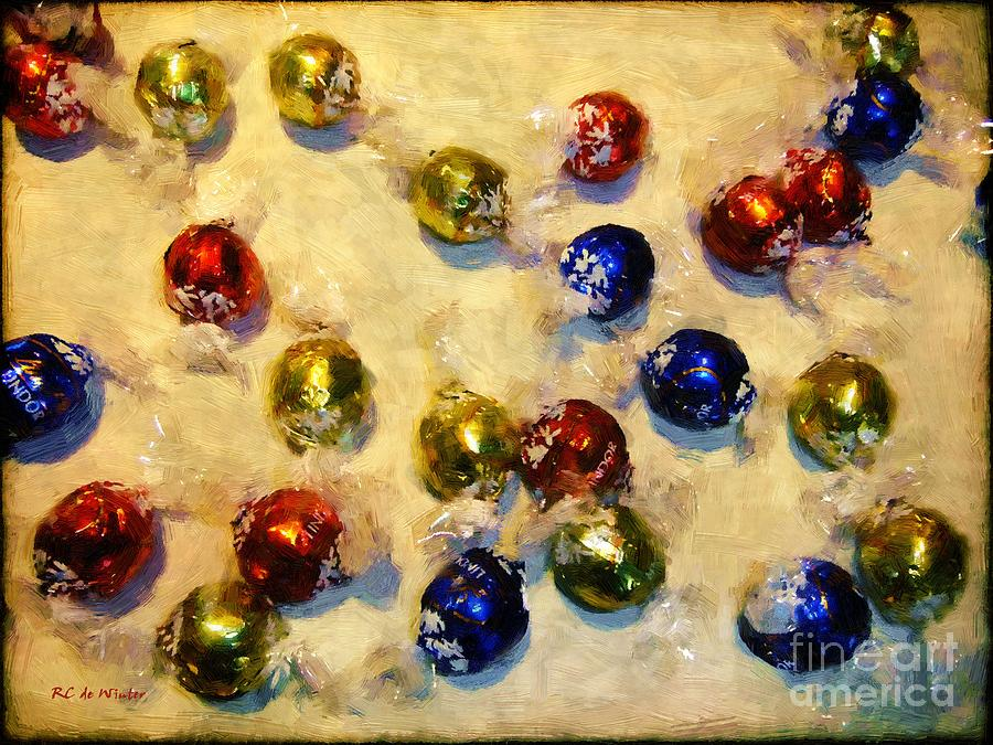 Candy Painting - Tinfoiled Truffles by RC deWinter