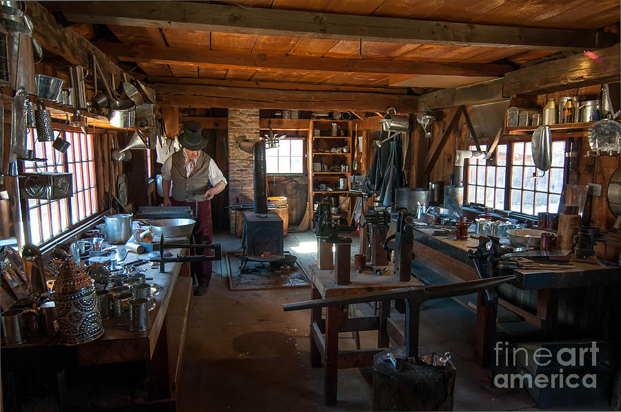 Tinsmith Shop - Old Sturbridge Village Photograph by Scott Thorp