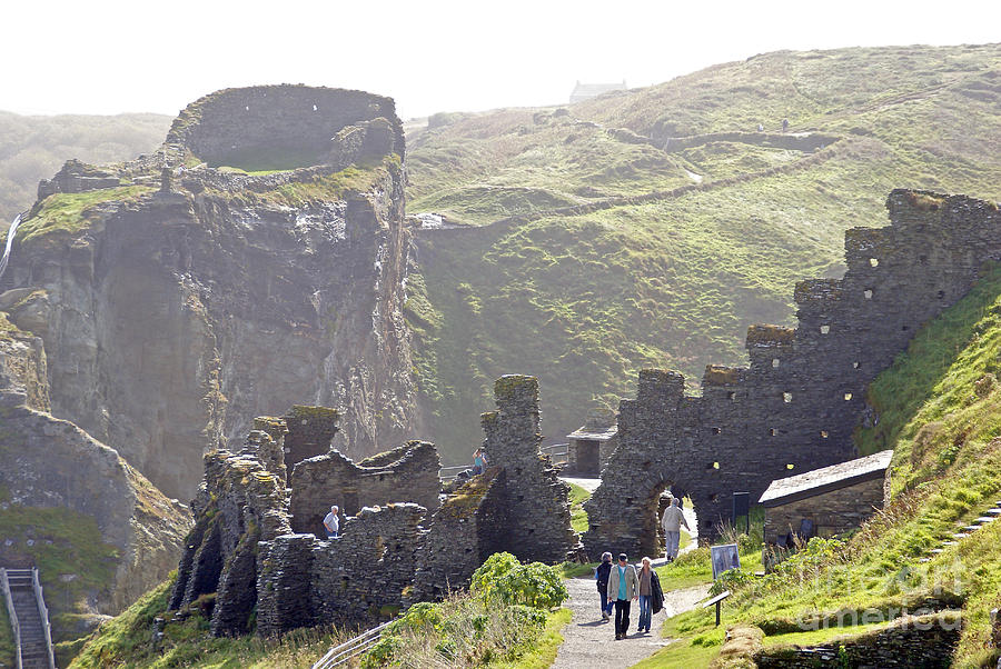 Camelot Photograph - Tintagel Castle by Rod Jones