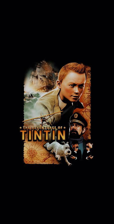 Art Print Poster Canvas Tintin Adventure Movie