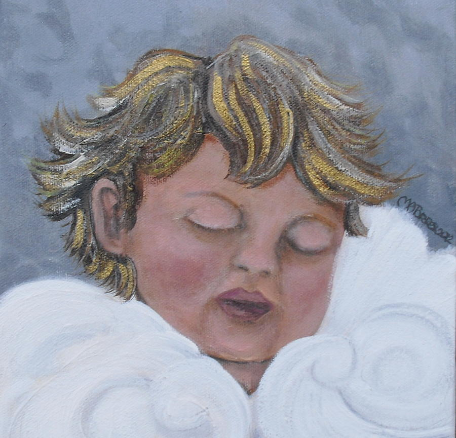 Angel Painting - Tiny Angel by Melissa Torres