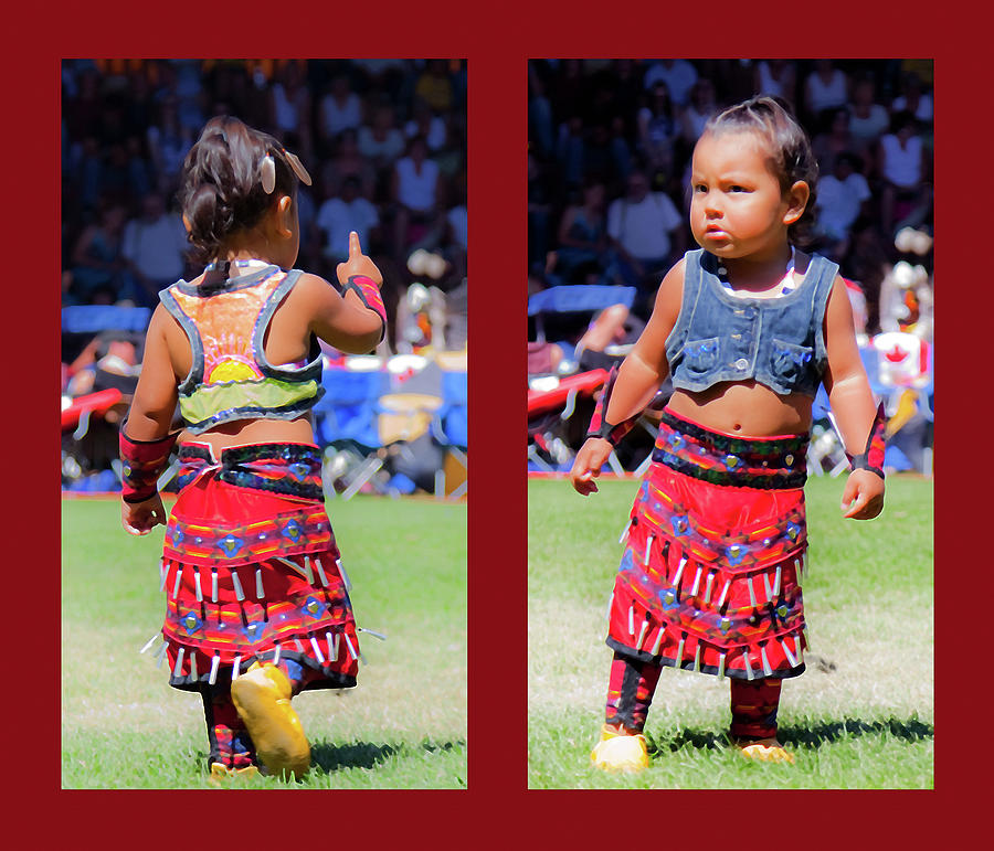 Toddler Photograph - Tiny Jingle Dancer by Theresa Tahara