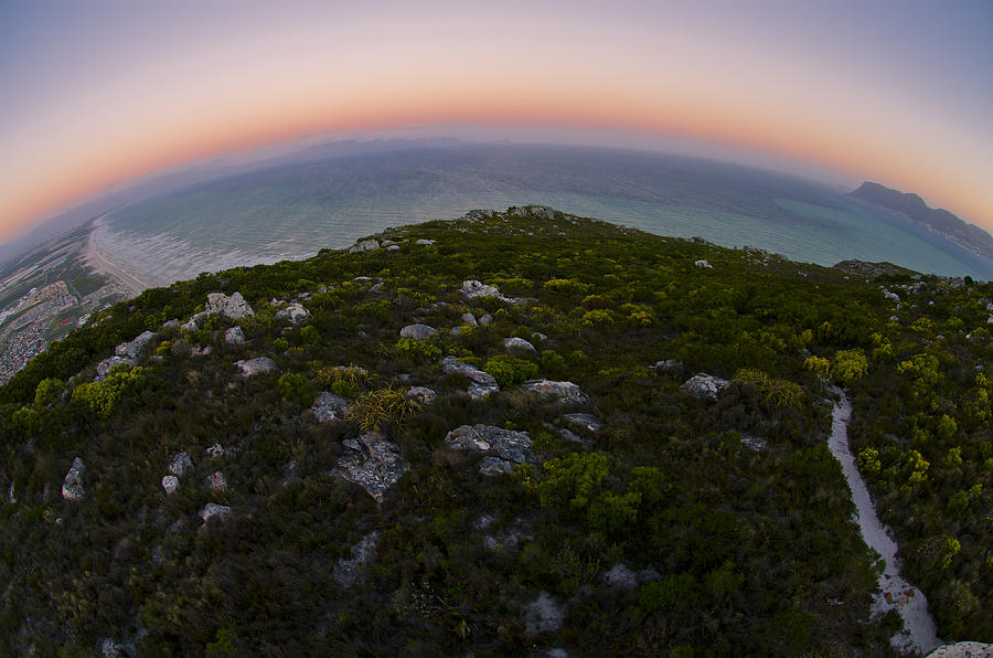 Fisheye Photograph - Tip Of The World by Aaron Bedell