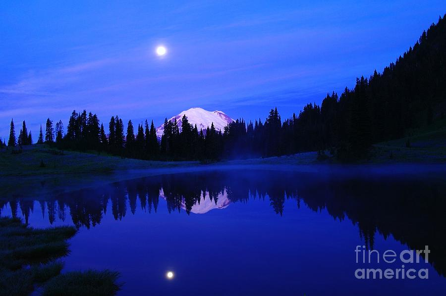 Scenic Photograph - Tipsoe Lake In The Morn  by Jeff Swan