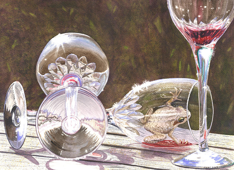 Wine Painting - Tipsy by Catherine G McElroy