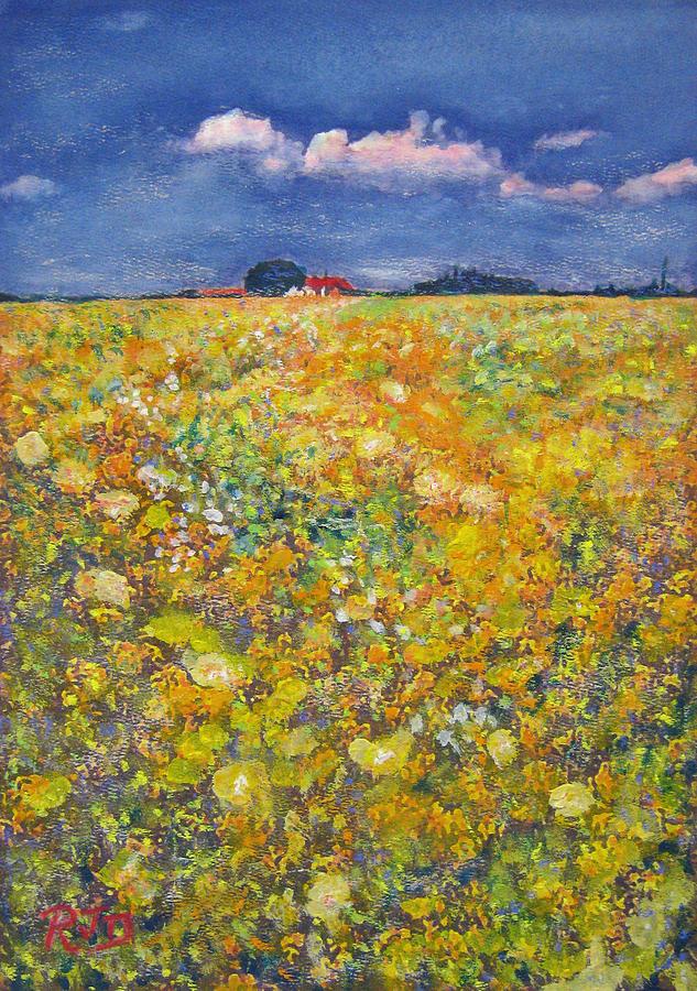 tiptoe Through Summer Meadow Painting