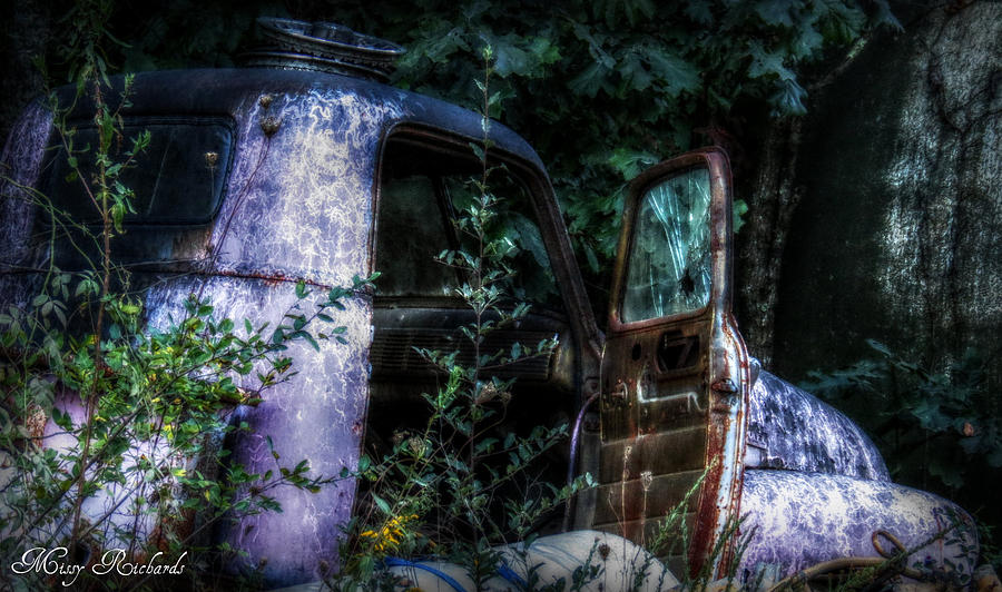 Old Truck Photograph - Tired by Missy Richards