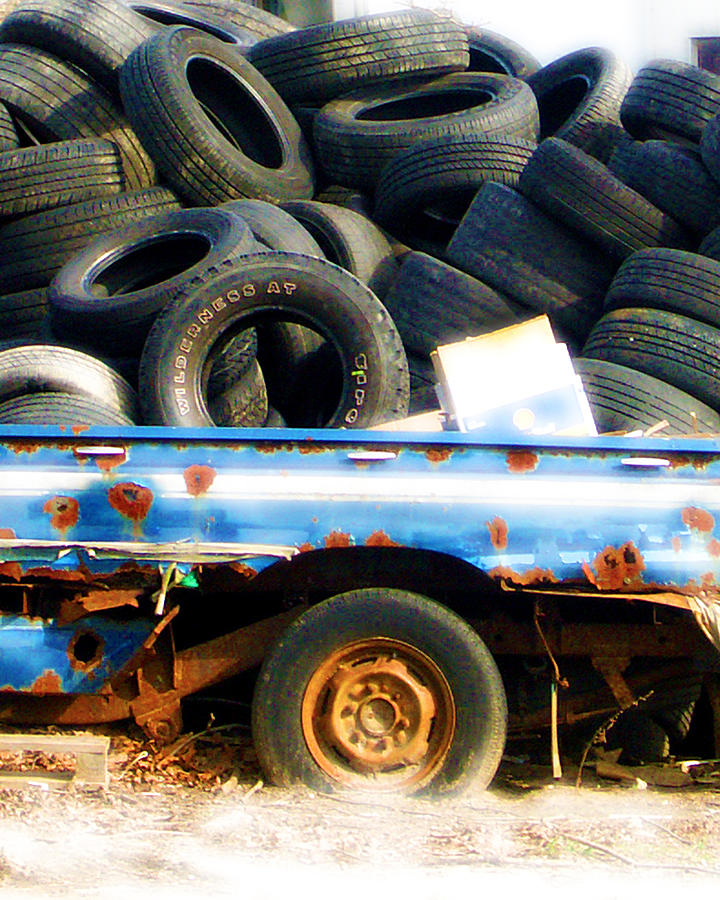 Tires Photograph - Tires by Tom Romeo