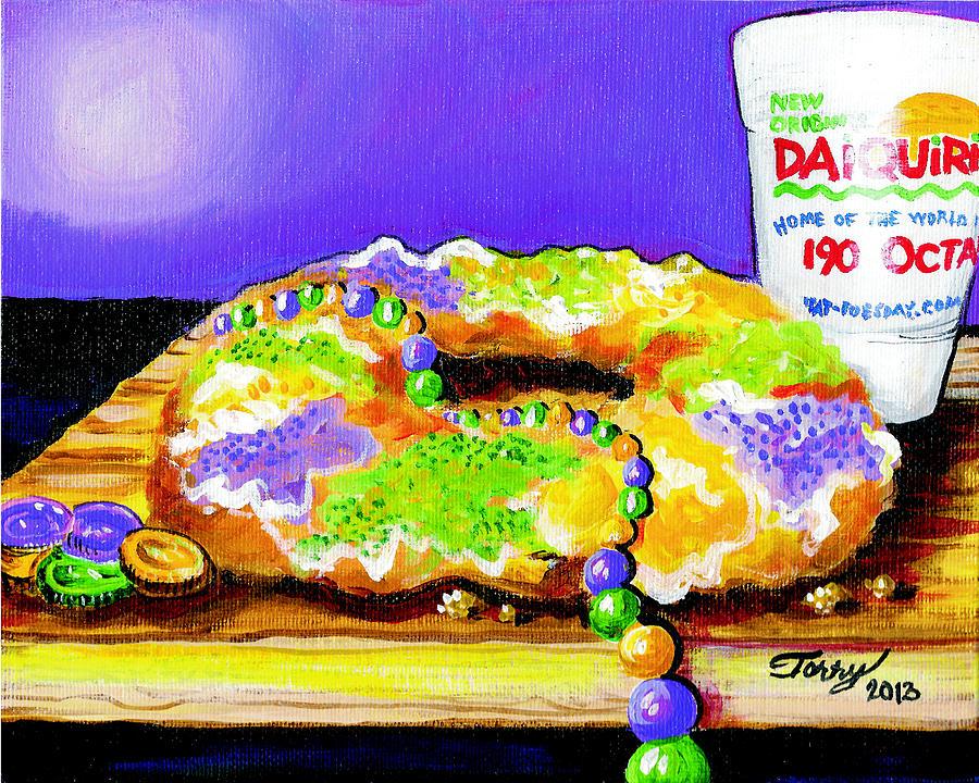 Mardi Gras Painting - Tis Da Season Mista by Terry J Marks Sr
