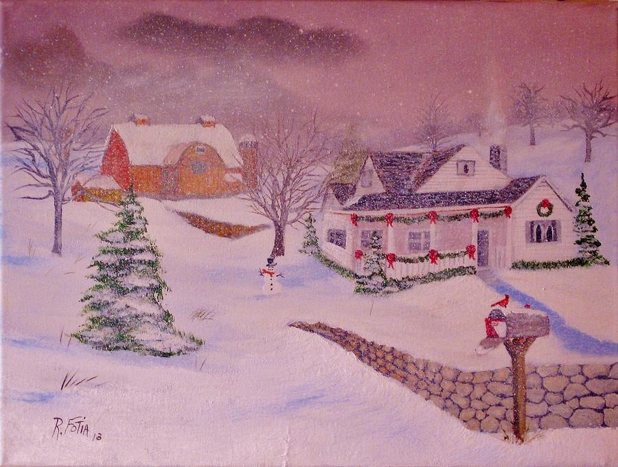 Winter Painting - Tis The Season by Rich Fotia