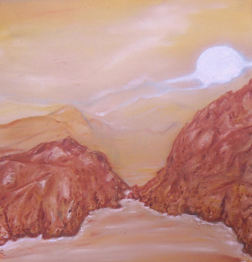 Methane Painting - Titan -saturn Vi Midnight By A Methane Lake by Nicla Rossini