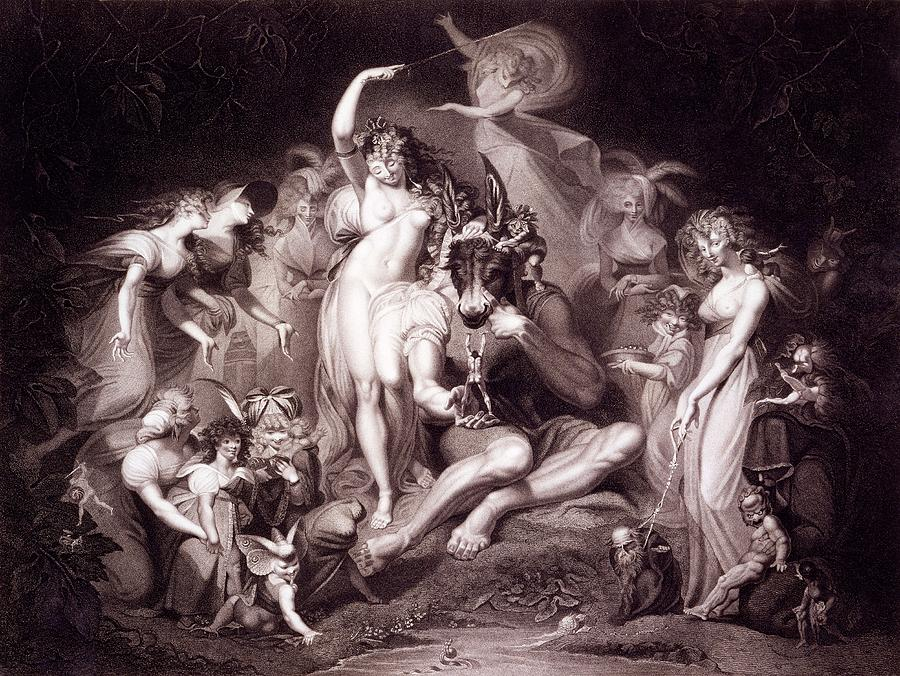 Titania Drawing - Titania, Bottom And The Fairies, Act 4 by Henry Fuseli