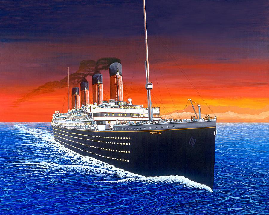 Titanic Painting - Titanic by David Linton