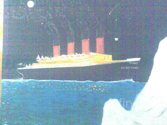 Ships Painting - Titanic Do Not Panic by George Vernon