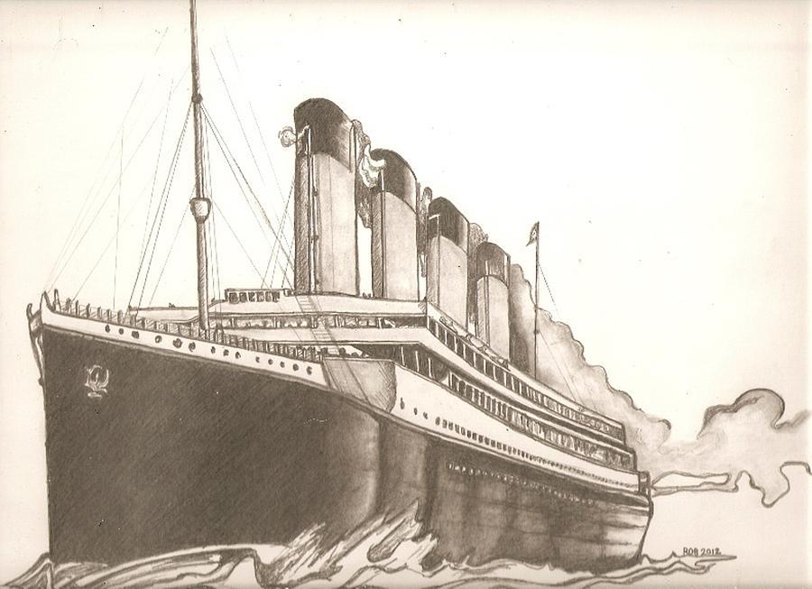 Titanic Drawing Drawing By Robert Crandall