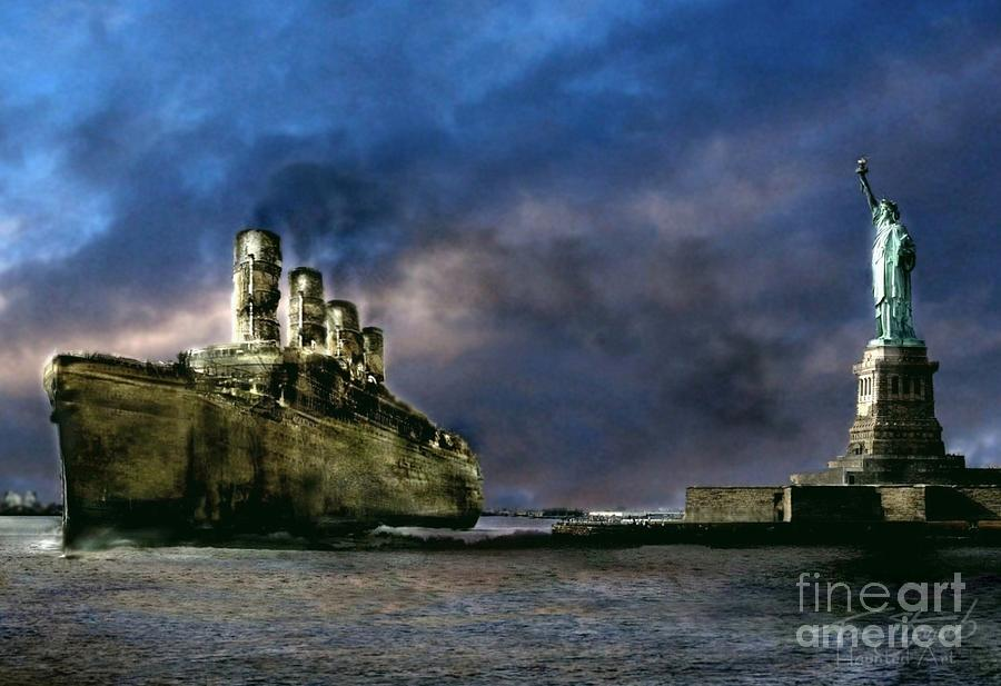 Ghost Ship Photograph - Titanic Late Arrival by Tom Straub