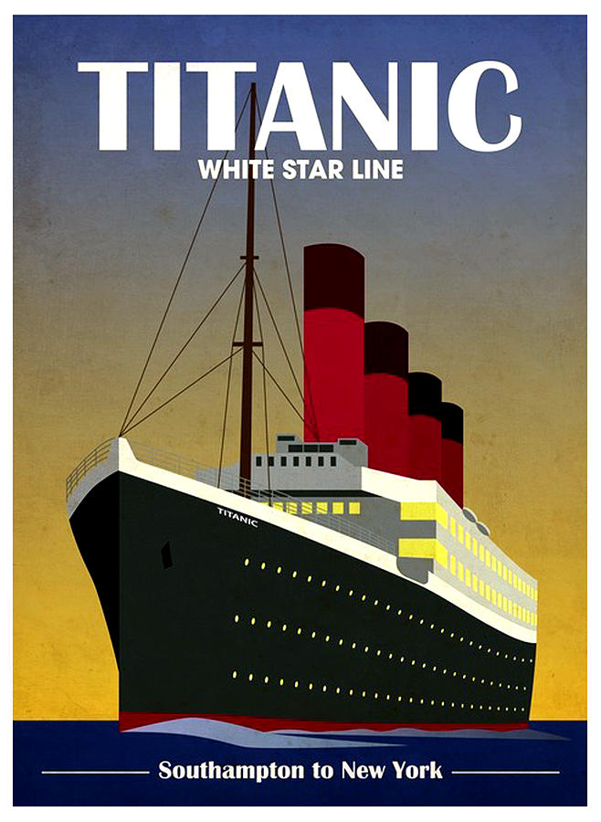 Titanic White Star Line Poster Mixed Media by Gary Perron