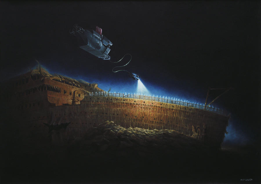 Titanic Wreck Save Our Souls Painting by Martin Davey