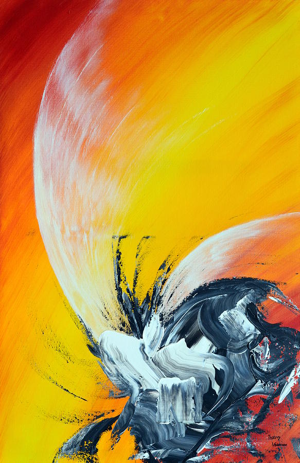 Abstract Painting - Titanium by Thierry Vobmann