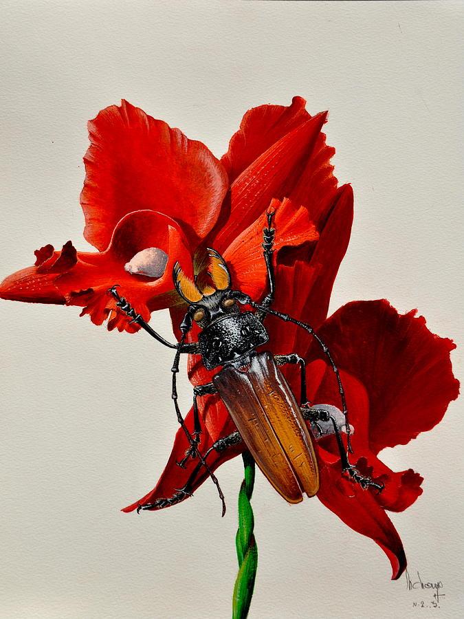 Insecte Painting - Titanus by MICHAUX Michel