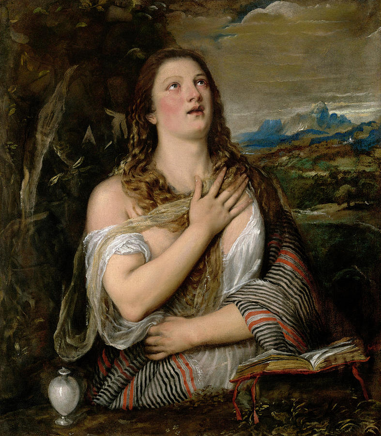 1565 Painting - Titian Mary Magdalene, C1565 by Granger