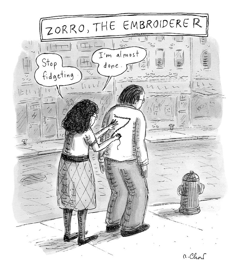 Title: Zorro Drawing by Roz Chast