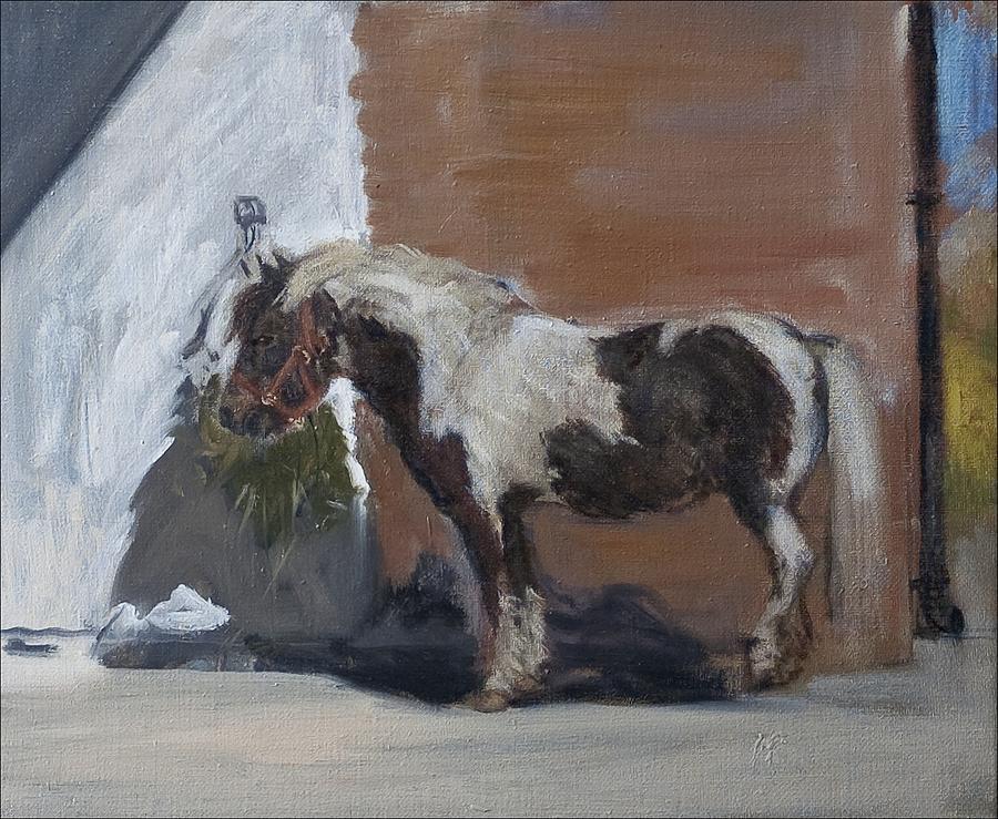 Pony Painting - Tiverton by Caroline Hervey-Bathurst