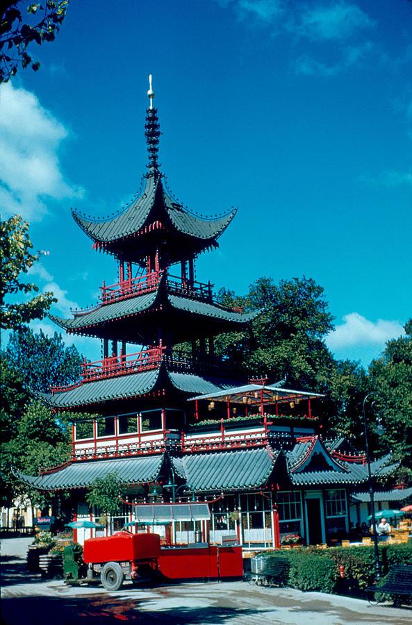 Tivoli Photograph - Tivoli Pagoda 1953 by Cumberland Warden