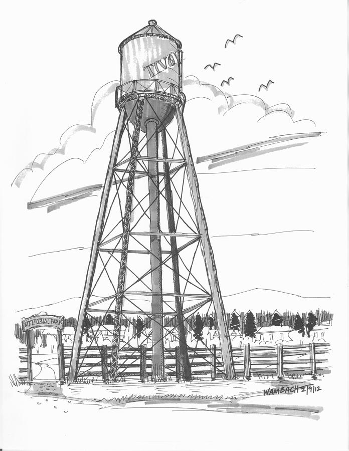 historic structures drawing tivoli water tower by richard wambach