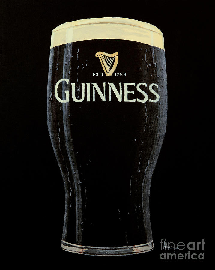 Guinness Painting - To Arthur by Alacoque Doyle