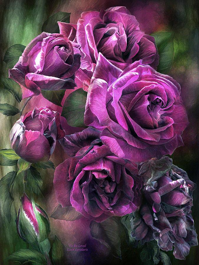 Rose Mixed Media - To Be Loved - Purple Rose by Carol Cavalaris