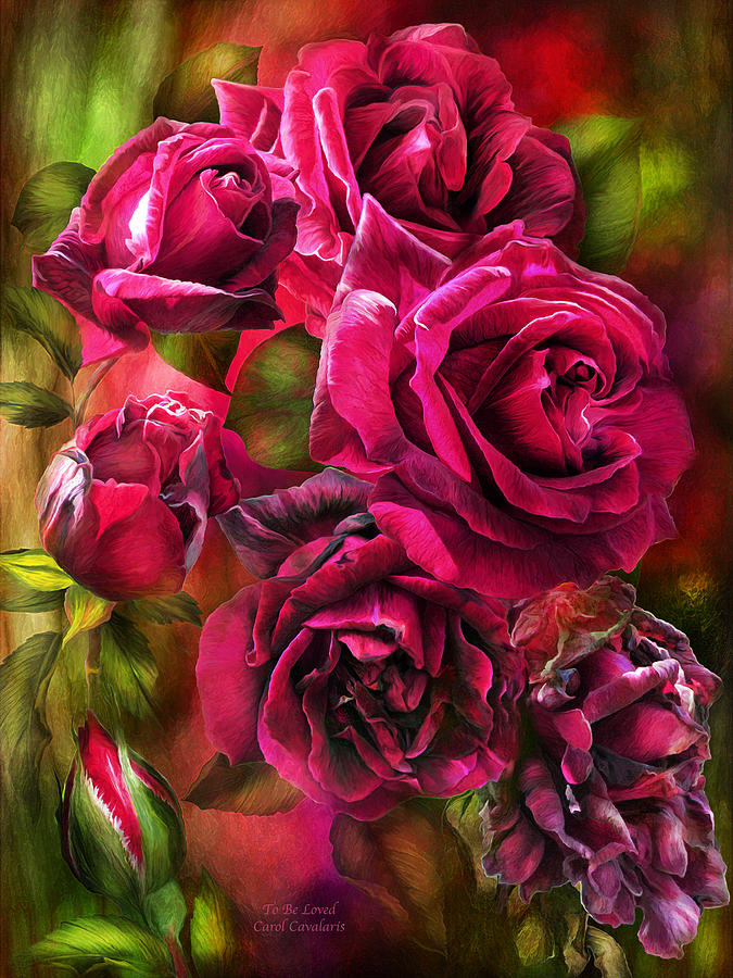 Rose Mixed Media - To Be Loved - Red Rose by Carol Cavalaris